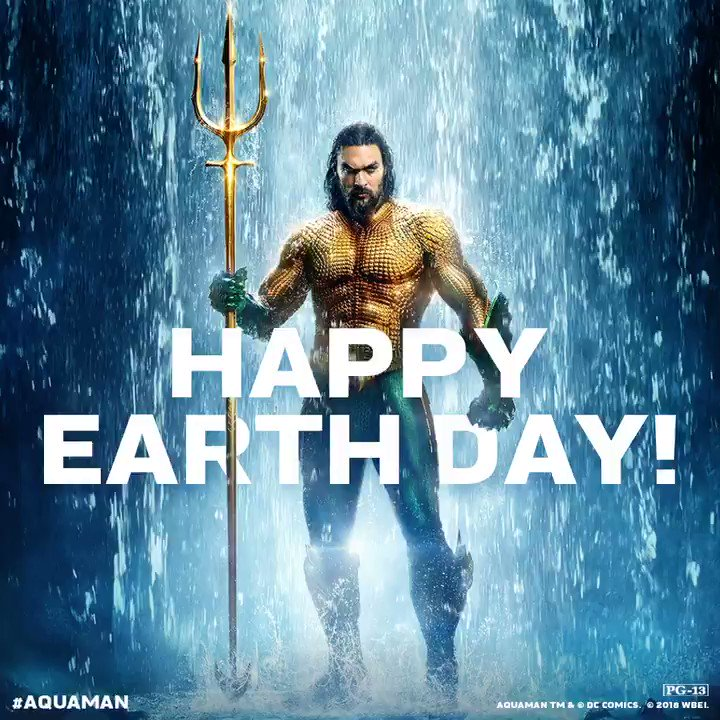 #Aquaman fights for the protection of all on earth, both below the seas and on the surface. Happy #EarthDay!