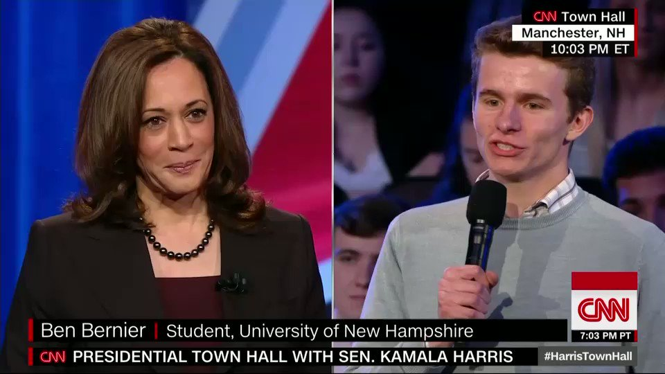 CNN's photo on #HarrisTownHall
