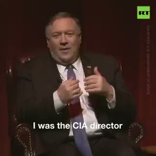 بومبيو يتحدث عن الإستخبارات الأمريكية عندما كان مديراً لها: لقد كذبنا وخدعنا وسرقنا ! هكذا تقود أمريكا العالم نحو مرافئ السلام، كما أكد #السديس😉