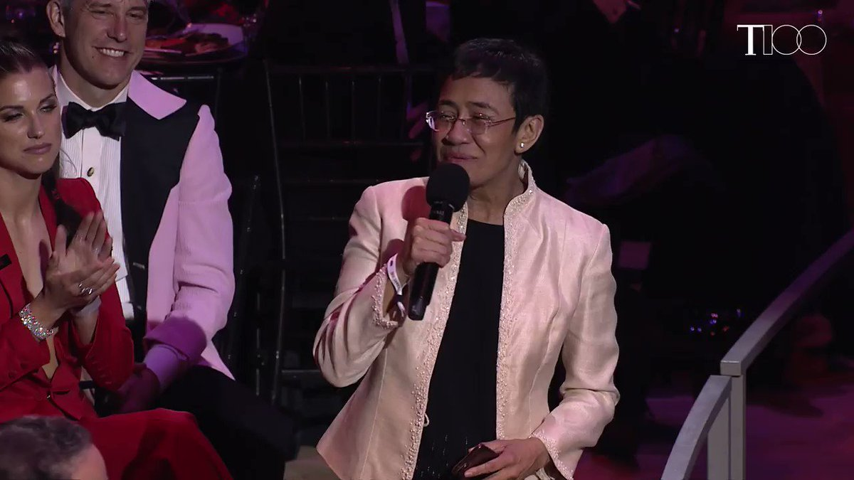 """""""My only crime is to be a journalist."""" Maria Ressa speaks out against hate at the #TIME100 Gala http://mag.time.com/VK7t5IX"""