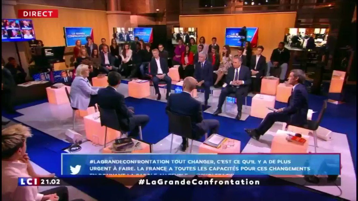 Marine Le Pen's photo on #LaGrandeConfrontation