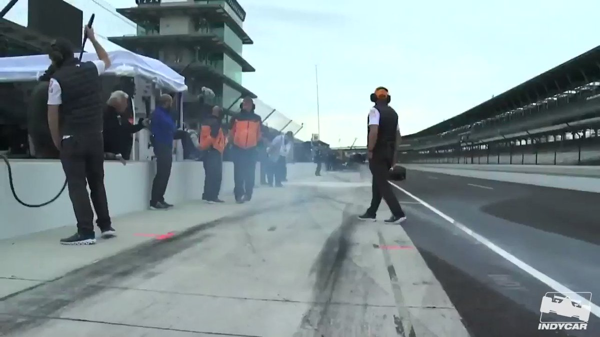 After some early issues for @alo_oficial, he is back on track for the @IndyCar Open Test. Watch LIVE on IMS.com/LIVE #ThisIsMay   #Indy500   #INDYCARGP