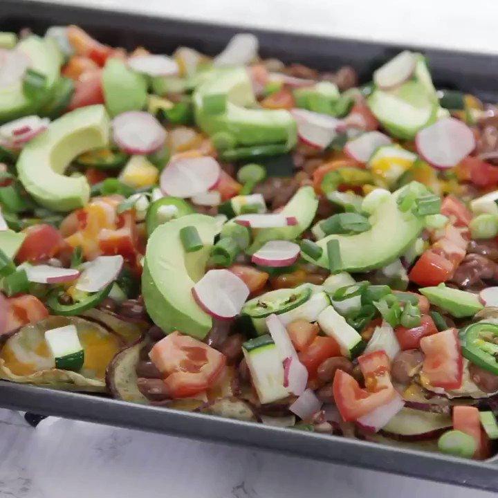 The secret to this healthier take on nachos? Sweet potatoes! Get the recipe: trib.al/3NpQoLx