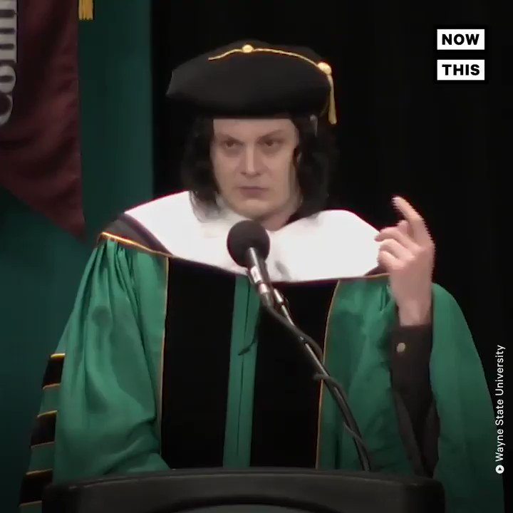 This rocker was given an honorary doctorate from a Detroit university for his commitment to the city — this was his message to the graduating class