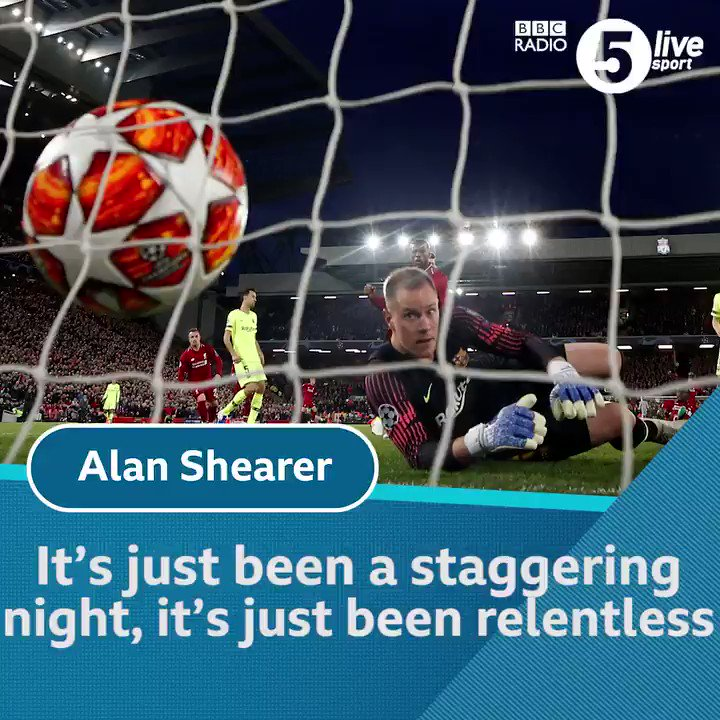"""""""It is the greatest European comeback""""  @alanshearer, @Iandennisbbc and @KellyCates describe a famous night for #LFC.  ⚽ Get all the reaction in the Football Daily: https://bbc.in/2I2IIxr #LIVBAR"""
