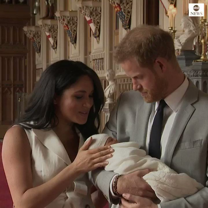 BREAKING: Prince Harry and Meghan, the Duke and Duchess of Sussex, introduce their newborn son to the world for the first time. https://abcn.ws/2H8iRV9