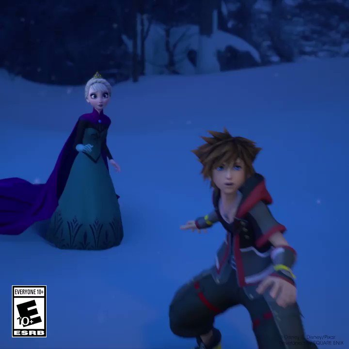 In #KingdomHearts it's not always Sora doing the saving, sometimes he needs some help from his friends, and this time around it's Elsa from #Frozen!
