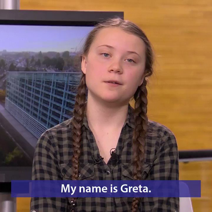 16 year old climate activist Greta Thunberg:If you, like me, are determined to bring attention to the ongoing climate & ecological crisis..going to vote is one of the most powerful things you can do. This is your chance to choose your future. #EUElections2019 #FridaysforFuture