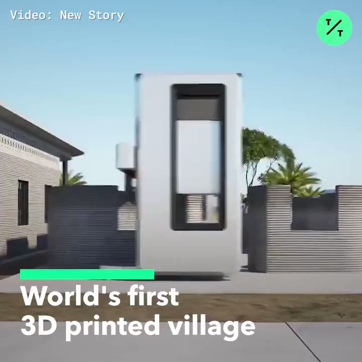 Buildings can be printed in 24 hours in the worlds first 3D-printed village
