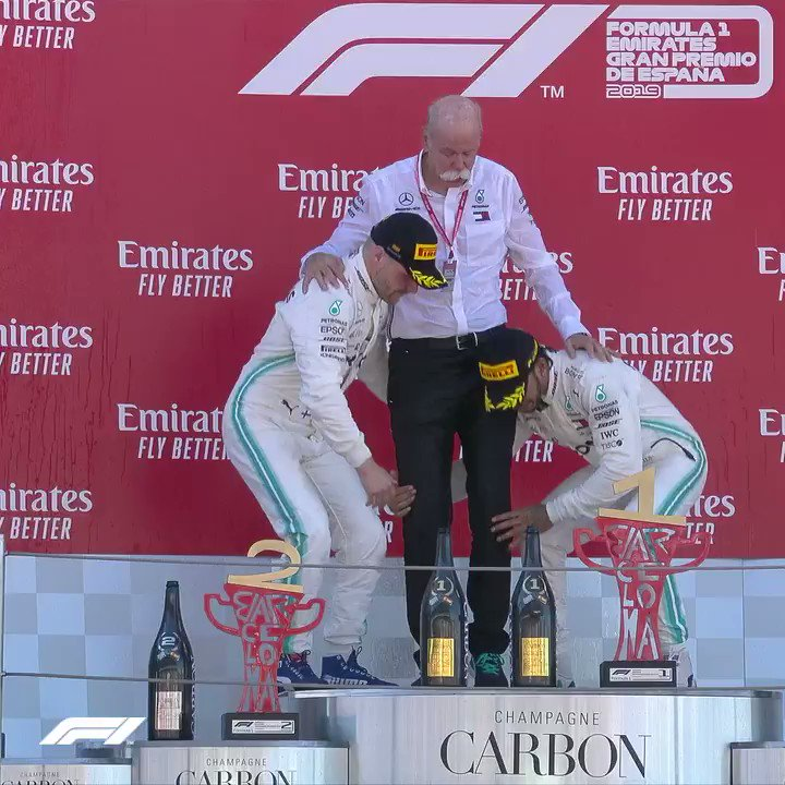 After a dominant weekend - Mercedes have broken the record for the number of consecutive 1-2 results - 5 in the first 5 races