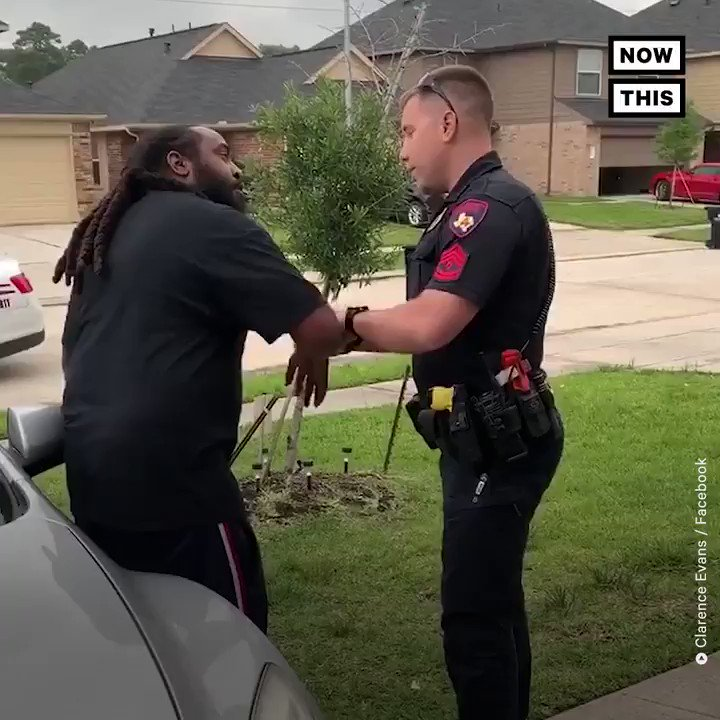 Clarence Evans, a black father, was playing in his front yard with his kids when a Harris County Precinct 4 constable deputy racially profiled him. The officer didn't even know his name. Watch until the end.