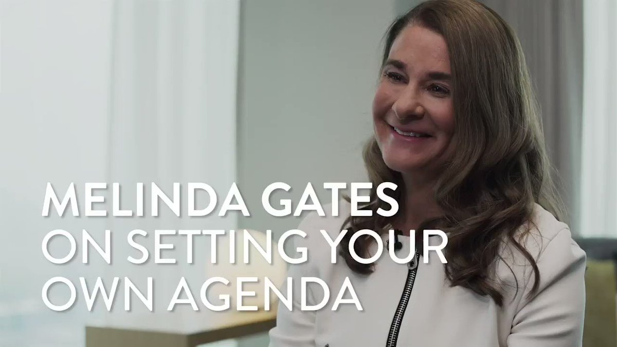 Melinda Gates on setting your own agenda: https://www.forbes.com/sites/moiraforbes/2019/05/14/melinda-gates-quest-to-find-her-voice-and-battle-power-inequities-at-work-and-at-home/?utm_source=twitter_video&utm_medium=social&utm_campaign=forbes…