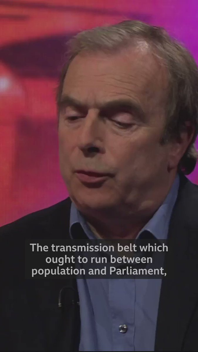 """The transmission belt which ought to run between population and Parliament, is broken,"" Mail on Sunday columnist Peter Hitchens told us this week.  Is our democracy broken? https://bbc.in/2HJUaPp   #newsnight 