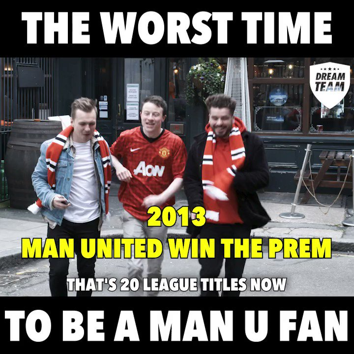 It was all looking so good for Man United back in 2013... 😂 #MUFC