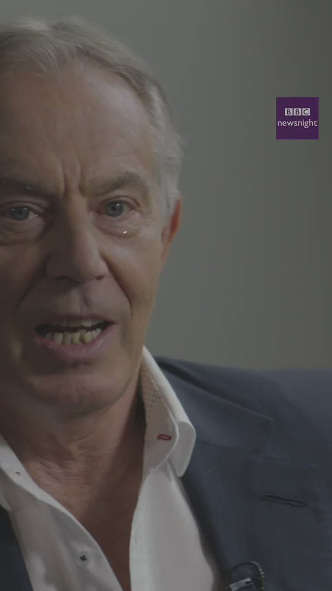 """They've got to have a narrative about the future. Because they will always win when people feel the future is going to be more secure, more prosperous for them.""  Former PM Tony Blair on the future for social democrats  MORE: https://bbc.in/2Hz5MEy   #newsnight 