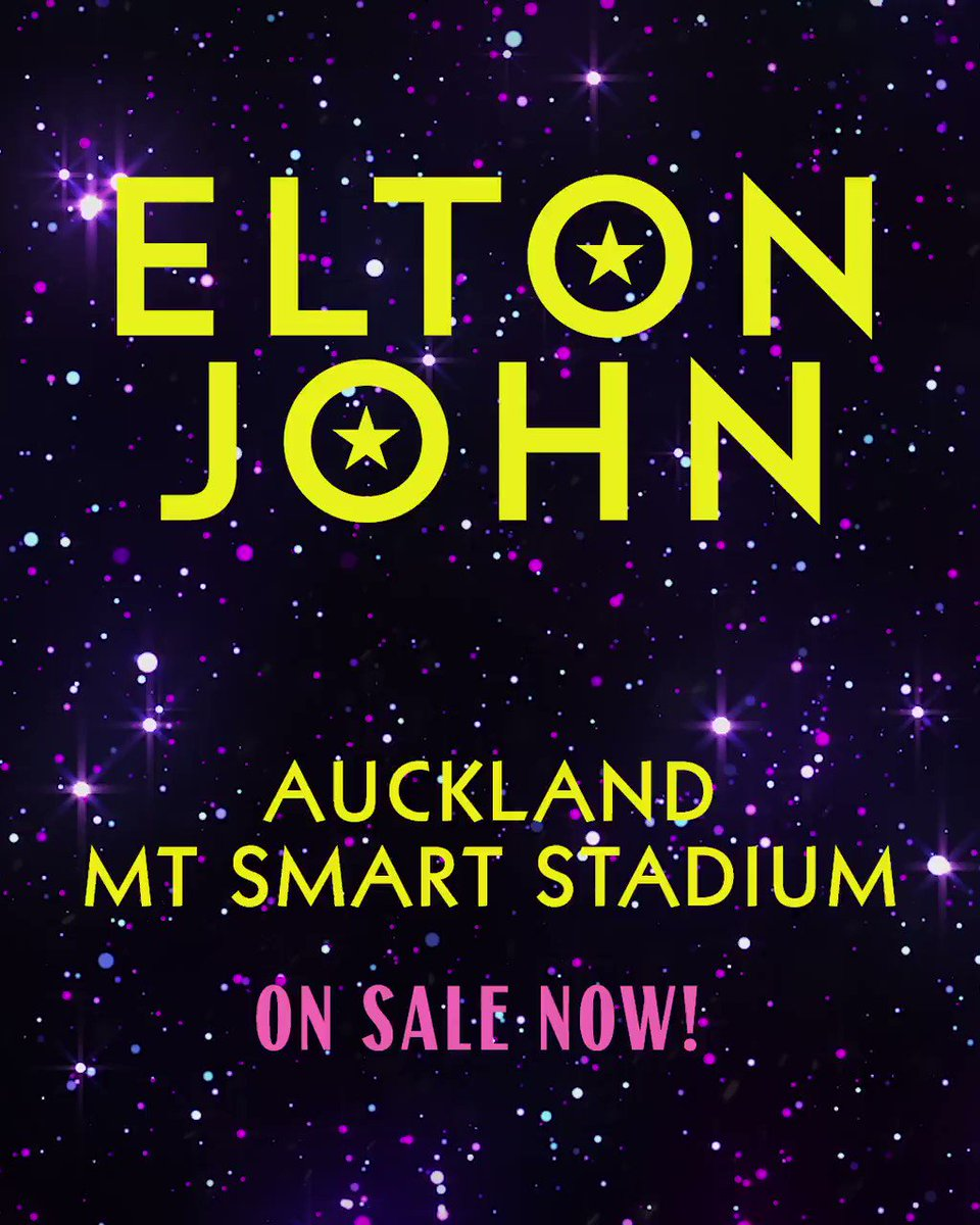 Image for the Tweet beginning: New Zealand, #EltonFarewellTour tickets for
