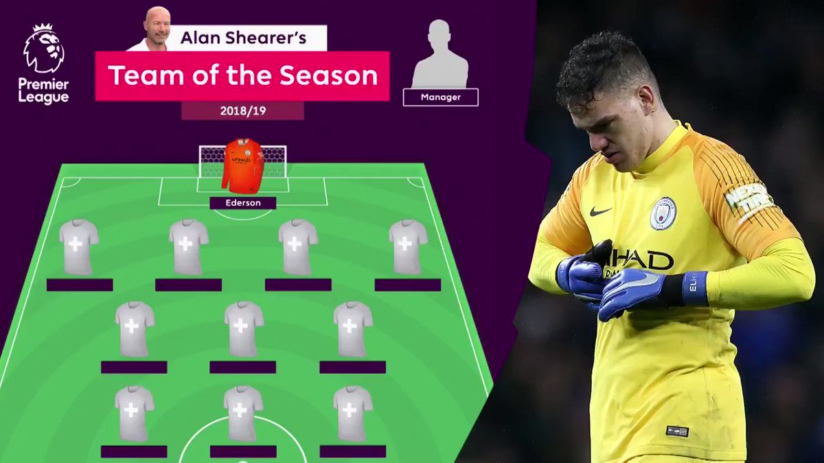 This is @AlanShearers #PL Team of the Season for 2018/19... Agree?