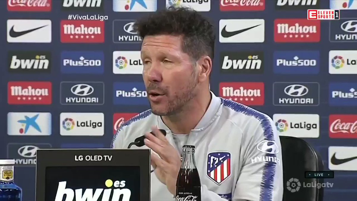 RT @ElevenSports_UK: What does Diego Simeone say to emotion ahead of Antoine Griezmann's final game?  #NotToday  https://t.co/lHrXozPsal