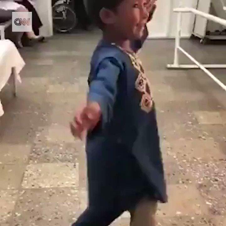 A landmine took Ahmed's Rahman leg when he was 8 months old.  He danced in jubilation after receiving a prosthetic leg at an International Red Cross Center in Afghanistan. https://cnn.it/2VKgnqa