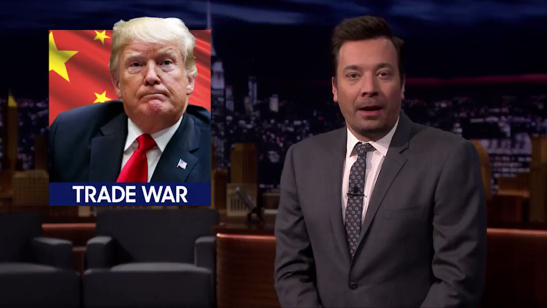 What do Trump's tariffs, the series finale of #GameofThrones, the PGA Championship, and a resort by Taco Bell have in common? Jimmy ties it all together in Newsmash #FallonTonight