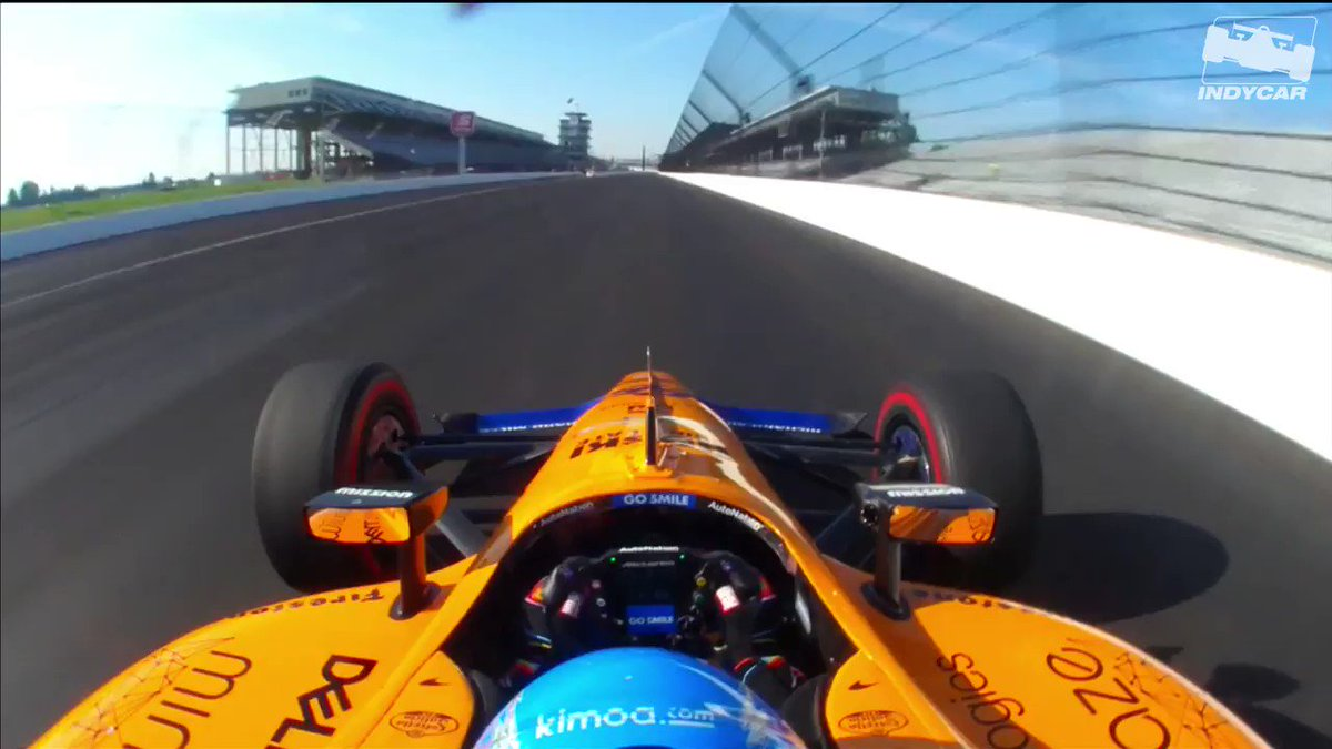 Take a ride around @IMS with @alo_oficial 🤩 Dont miss Day 1 of Qualifying starting at 11 AM: bit.ly/2UkPkND #INDYCAR // #ThisIsMay