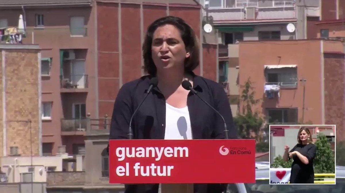 📽 Com pot ser que lobjectiu principal dERC i PSC sigui fer fora a la primera alcaldessa, dorigen popular, feminista i valenta daquesta ciutat? @AdaColau #BarcelonaJusta