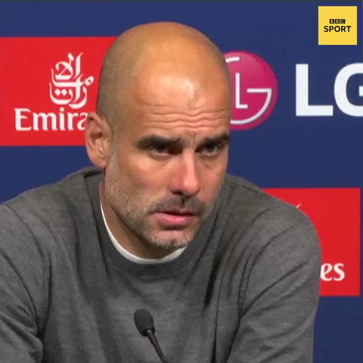 Are you accusing me? Man City boss Pep Guardiola was left shocked by a question relating to Financial Fair Play after his sides #FACupFinal win over Watford.