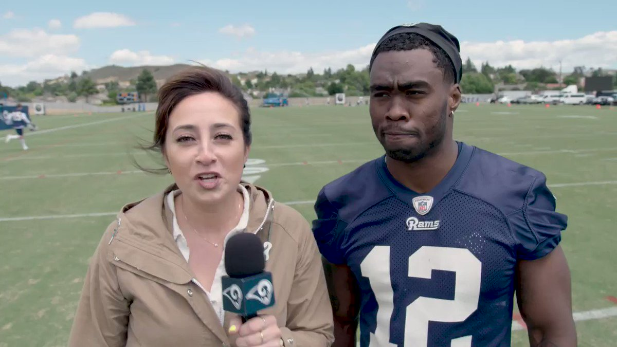 Day one is in the books. Whats @brandincooks looking forward to as the #LARams kick off OTAs?