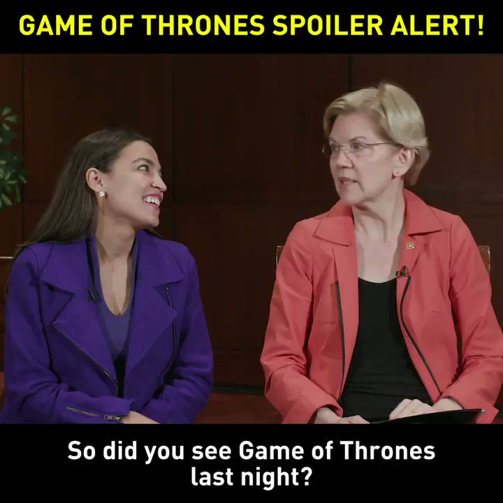 'Game of Thrones' fans AOC and Elizabeth Warren did not like the finale