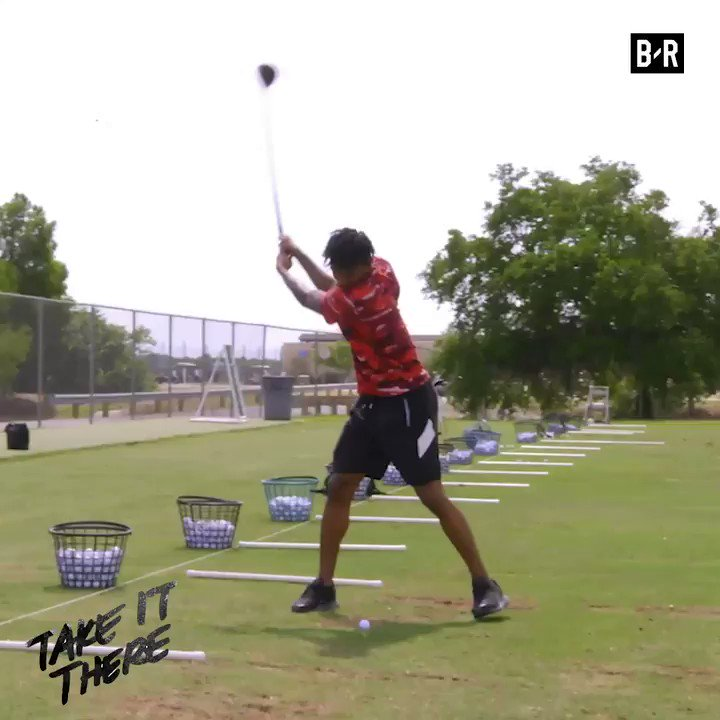 "Projected No. 2 pick @igotgame_12 could use some help with his golf game 🤣 New ""Take It There"" with @TaylorRooks drops Wednesday"