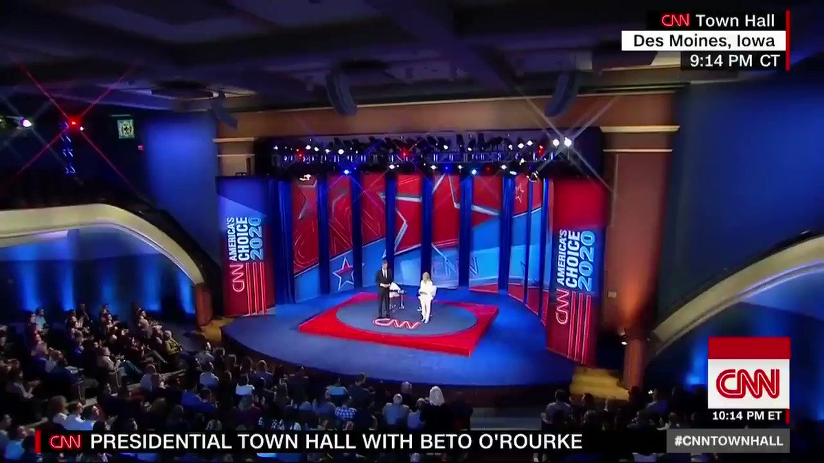 "Beto O'Rourke: ""As president, I will make sure that every nominee to every federal bench, including the Supreme Court, understands and believes that the 1973 decision, Roe v. Wade, is the settled law of the land."" #CNNTownHall http://cnn.it/2WkX1r7"