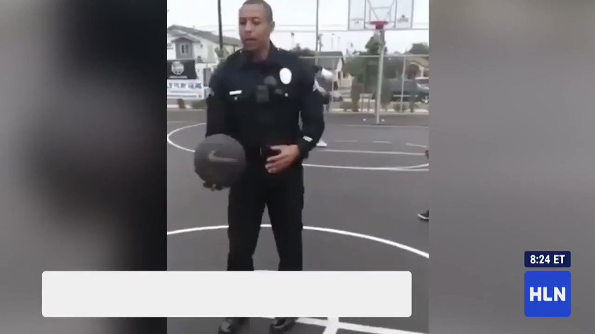 This police officer surprised some kids by nailing a blind half-court shot cnn.it/2EoZHtA