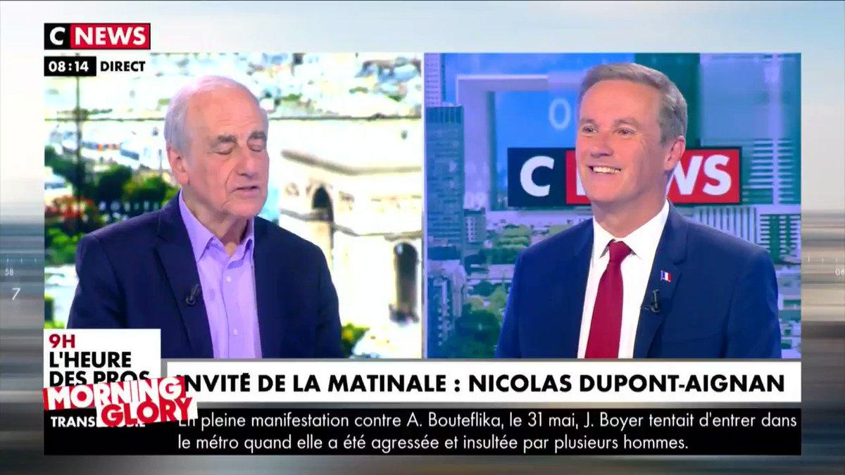 - Nicolas Dupont-Aignan, je vous admire vraiment... - Ah ! Pourquoi ? Vous voyez le piège venir, là ? 😏 #Quotidien
