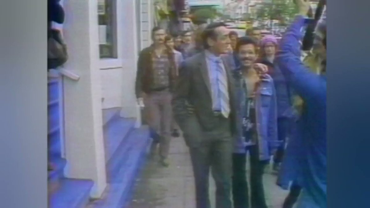 Footage of Harvey Milk from NBC News...incredible  #HarveyMilkDay