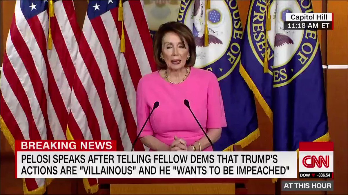 "Speaker Nancy Pelosi calls Trump a ""master of distraction"": ""I think what really got to him was these court cases and the fact that the House Democratic caucus is not on a path to impeachment. And that's where he wants us to be"""