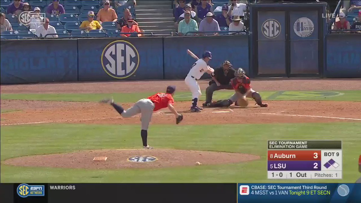 Auburn baseball literally throws away SEC Tournament victory