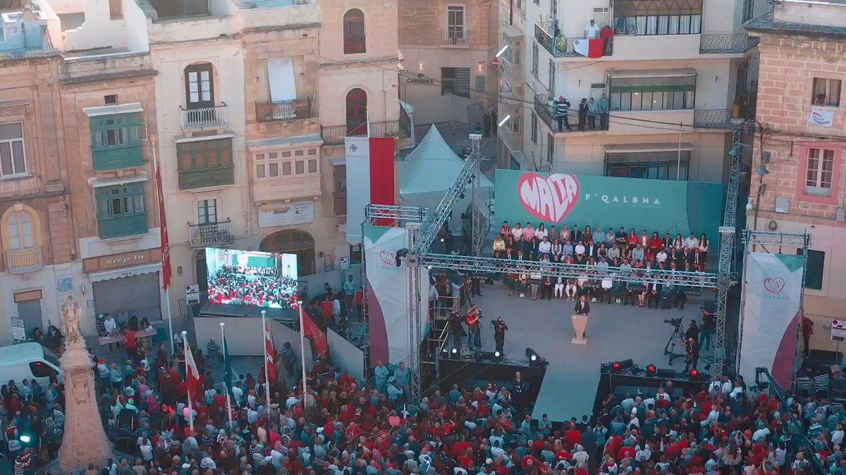 Image for the Tweet beginning: Wettaqna ħafna għall-poplu tagħna, imma