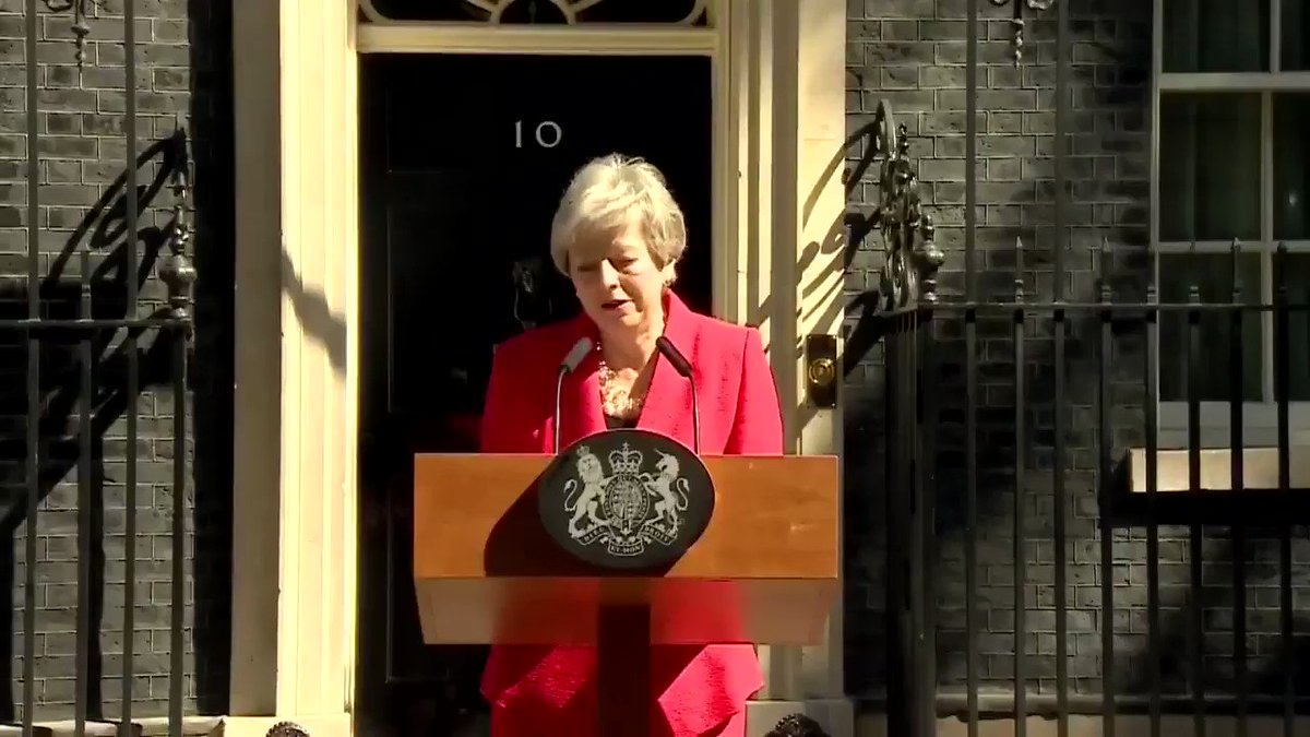 What an emotional ending to that Theresa May reign... #Trexit