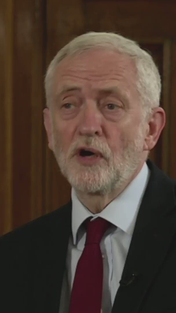 Labour's Jeremy Corbyn says Theresa May is right to stand down as PM, saying she cannot command a majority in Parliament or the confidence of her own MPs  [tap to expand] http://bbc.in/2W1bo4J