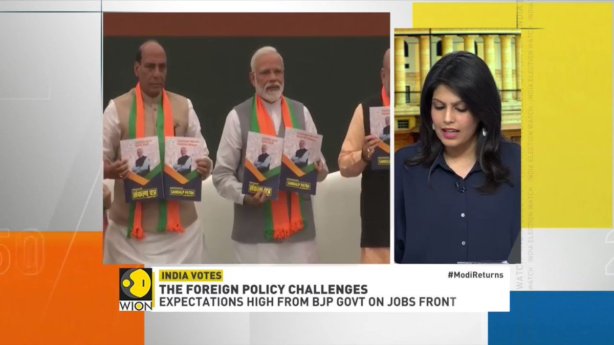 #IndiaElectionWatch | What's next for PM @narendramodi? What are the challenges ahead? @palkisu discusses with the foreign policy challenges with Andrew Whitehead @john_pether, @MakrandParanspe, Walter Andersen and Lord Meghnad Desai #ModiReturns #LokSabhaElectionresults2019
