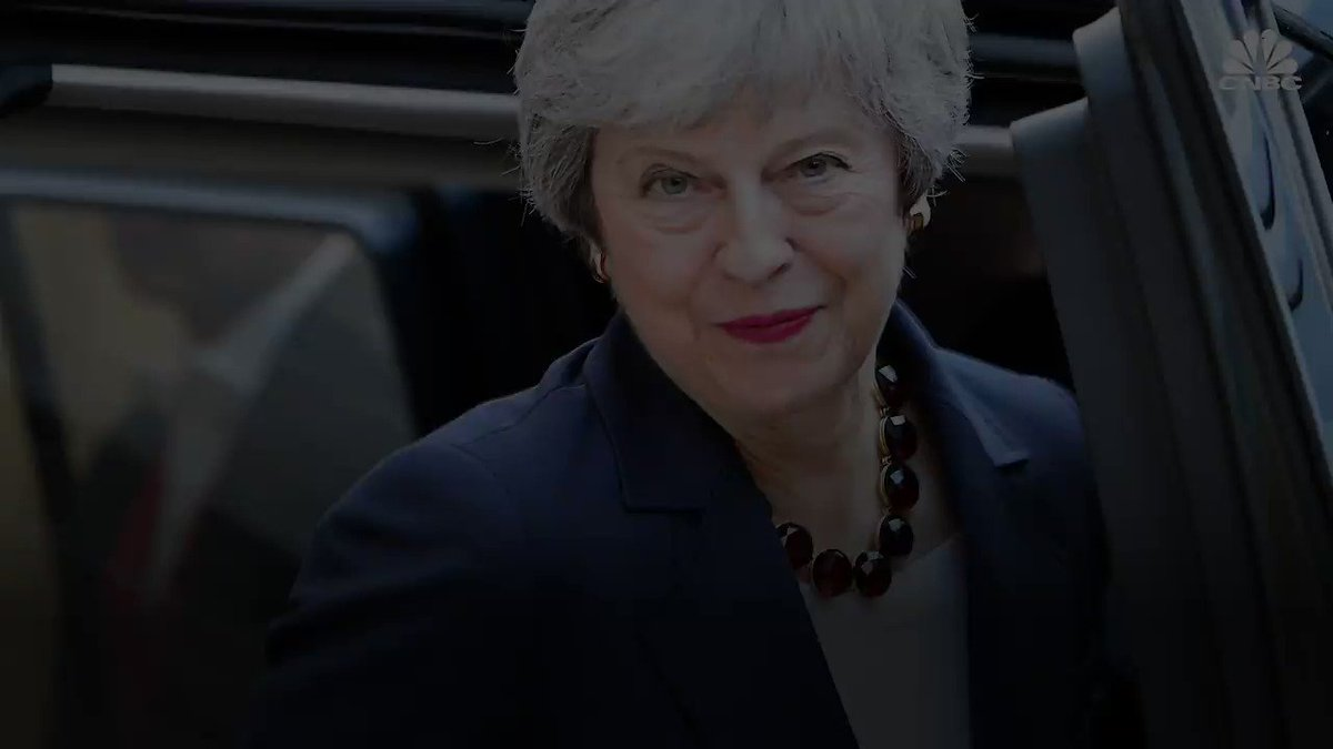 Image for the Tweet beginning: Theresa May announced her resignation