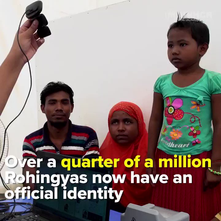 For the first time ever, hundreds of thousands of Rohingya refugees have an official identity.