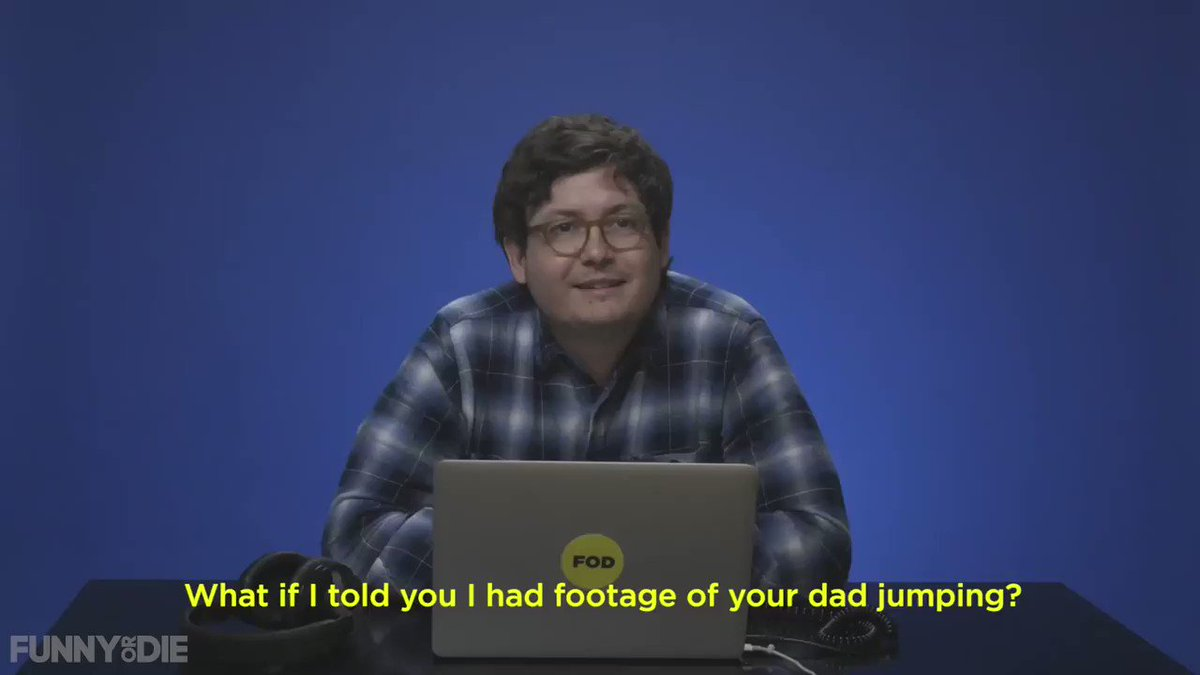 Dad's don't jump. That's a myth!  Watch the full video here: https://www.funnyordie.com/2016/6/17/17725992/people-react-to-their-dads-jumping …