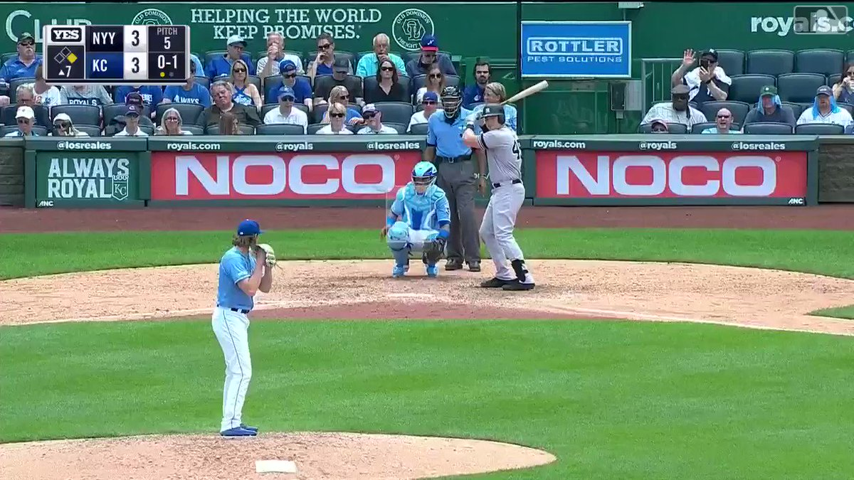 Luke Voit hits the longest home run of the season by a Yankee 💣