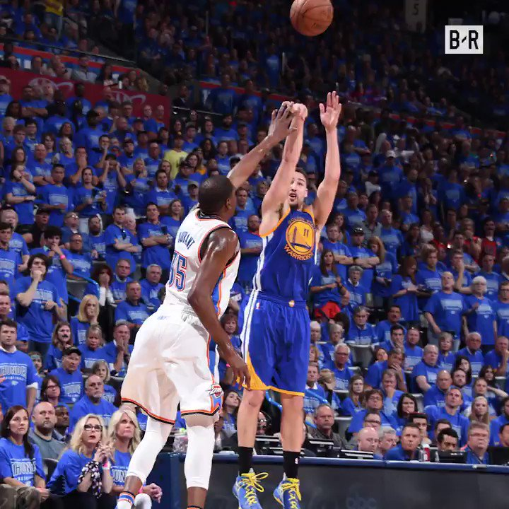 Three years ago today, Klay put on an all-time shooting clinic in Game 6 to save the Warriors in the WCF 🔥