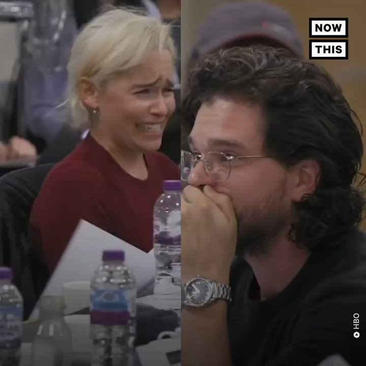 RT @nowthisnews: Kit Harington and Emilia Clarke's reactions to the #GameOfThrones finale say it all https://t.co/TMKPm5LVSn