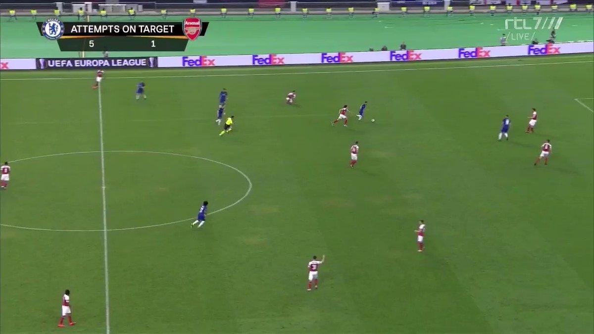 Chelsea - Arsenal (finale Europa League): 4-1 door Eden Hazard