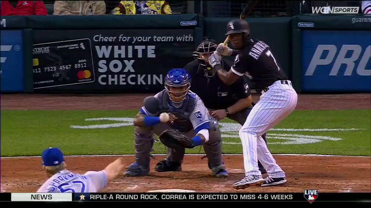 #wcr #WhiteSox Tim Anderson hit in the head.