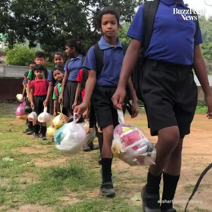 This school asks for discarded plastic instead of school fees 📚♻️