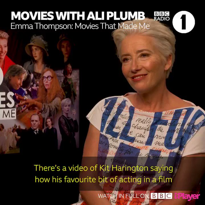 Kit Harington has said that this iconic scene in Love Actually is his all-time favourite EVER. ❤️ @AliPlumb chats to Emma Thompson in Movies That Made Me on @BBCiPlayer.